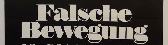 Wim Wenders - die frühen Jahre: Falsche Bewegung